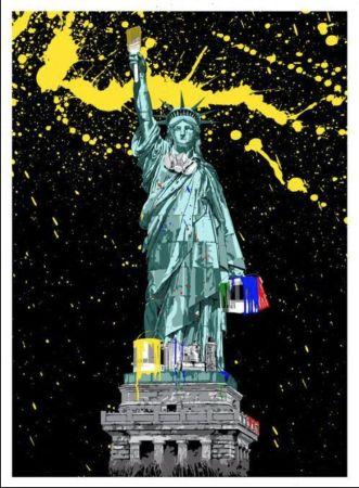 Serigrafía Mr. Brainwash - Liberty