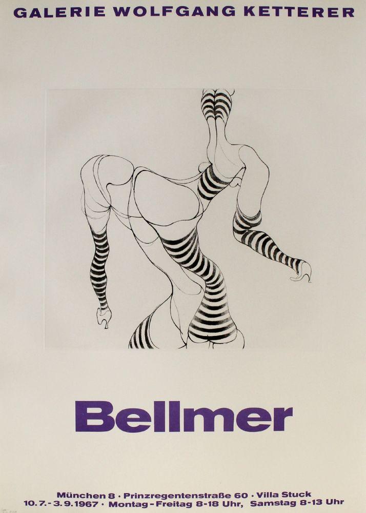 Grabado Bellmer - Liegende in Strümpfen
