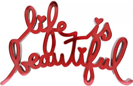 Múltiple Mr Brainwash - Life is beautiful - hard candy light red