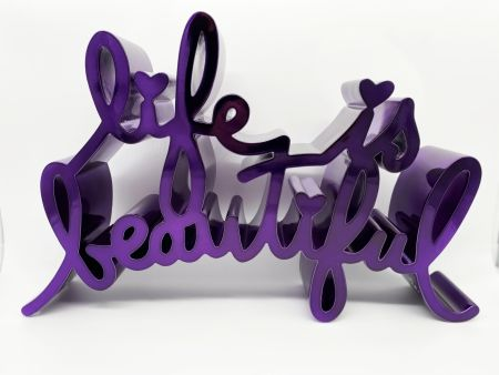 Relieve Mr Brainwash - Life Is Beautiful - Hard Candy (Purple)