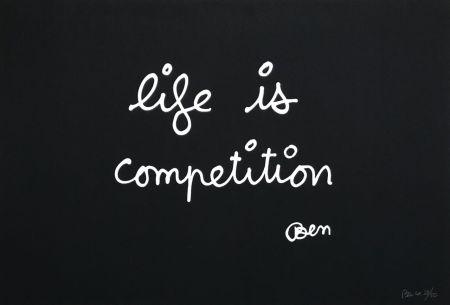 Serigrafía Vautier - Life is competition