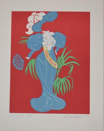 Litografía Indiana - Lilian Russell - Mother of us all portfolio