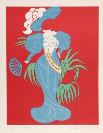 Litografía Indiana - Lillian Russell