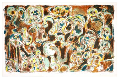 Litografía Alechinsky - L'inconditionnement humain
