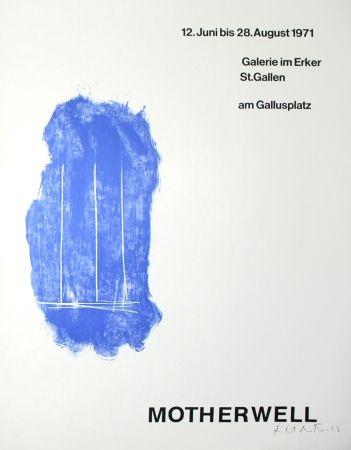 Litografía Motherwell - Lines for St. Gallen