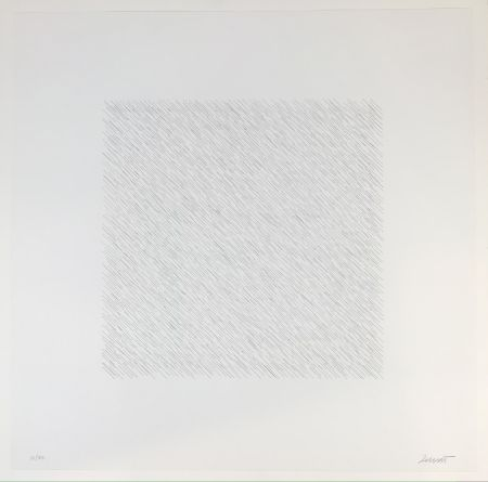Litografía Lewitt - Lines of One Inch Four Directions Four Colors