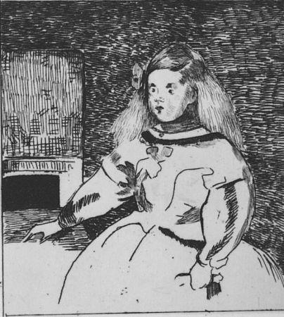 Aguafuerte Manet - L'infante Marguerite