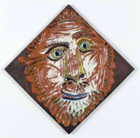 Cerámica Picasso - Lion's Head, 1968-1969