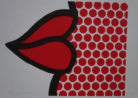 Serigrafía Lichtenstein - Lips