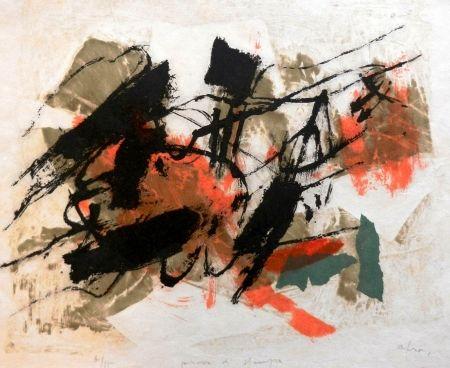Litografía Afro - L'Isola del Giglio