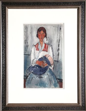 Aguatinta Villon - L'Italienne after Amadeo Modigliani