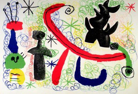 Litografía Miró - Litho 1950