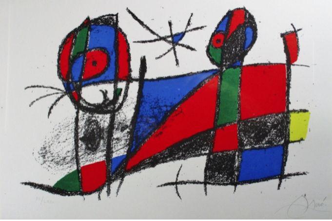 Litografía Miró - Lithograph Vi From Vol. Ii