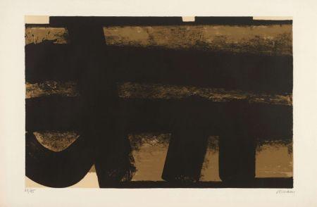 Litografía Soulages - Lithographie 35 – 1974