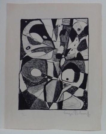 Litografía Poliakoff - Lithographie en noir n°1
