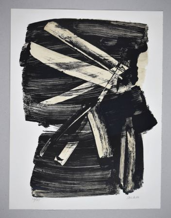 Litografía Soulages - Lithographie n°10