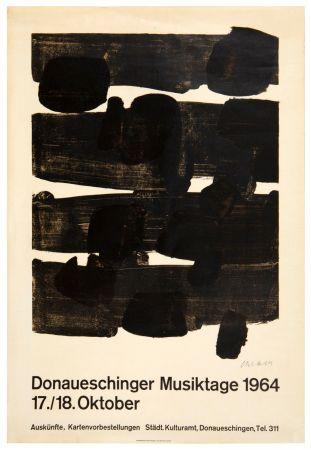 Litografía Soulages - Lithographie n°12, 1964. Signée.