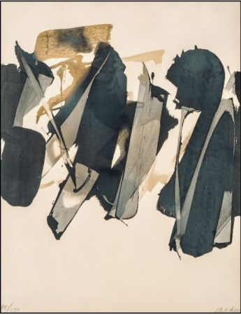 Litografía Soulages - Lithographie n°14 – 1964