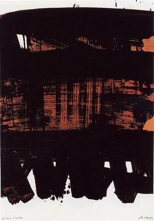Sin Técnico Soulages - Lithographie n°22