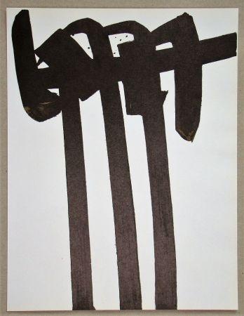Litografía Soulages - Lithographie N°28