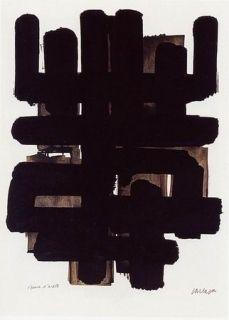 Litografía Soulages - Lithographie n°3
