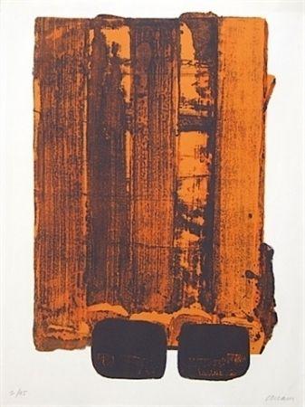 Litografía Soulages - Lithographie n°34
