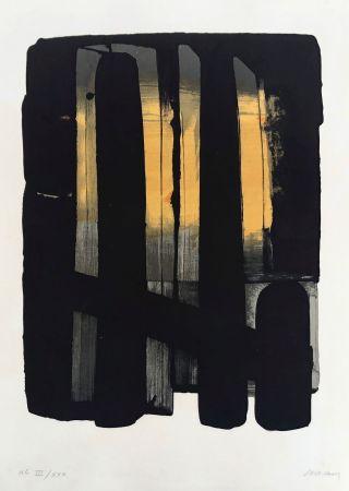 Litografía Soulages - Lithographie n°38