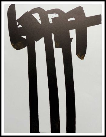 Litografía Soulages - LITHOGRAPHIE N° 28