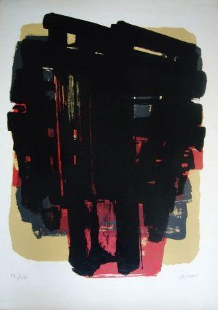 Litografía Soulages - Lithographie n° 8