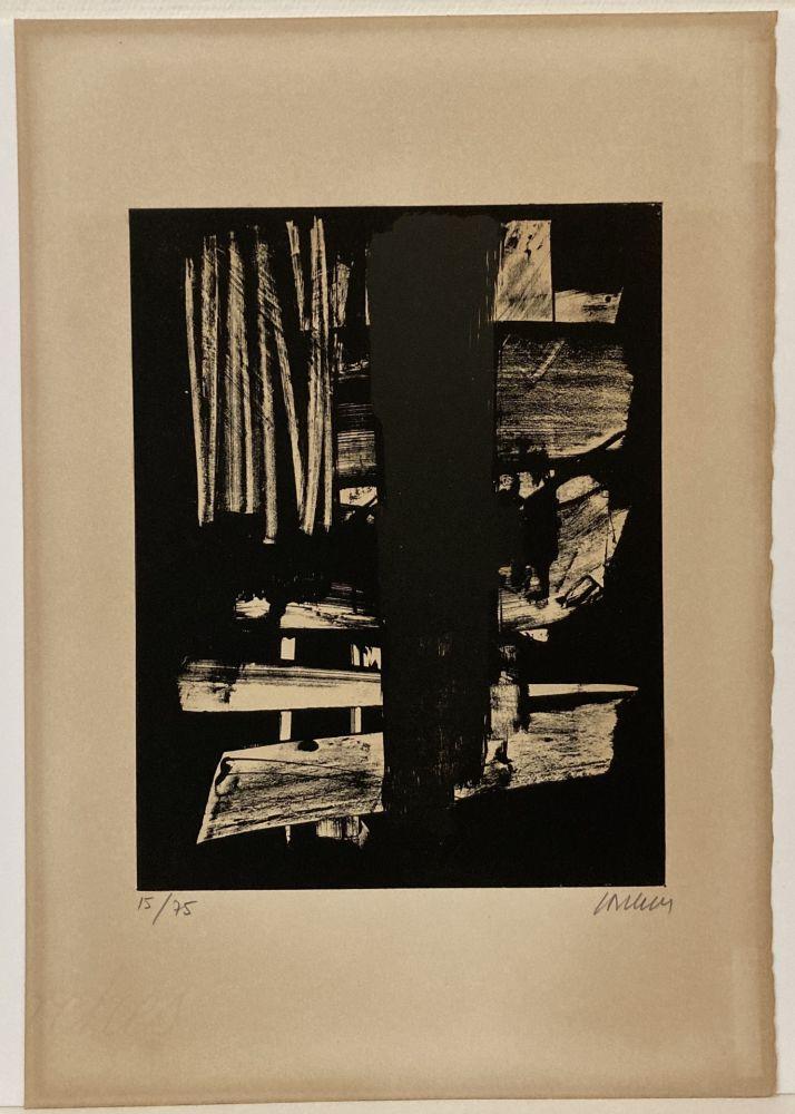 Litografía Soulages - Lithographie n° 9, 1959. Signée et numérotée.