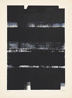 Litografía Soulages - Lithographie No. 32A