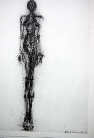 Litografía Giacometti - Litografia Original Derrier Le Miroir - 1971