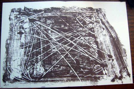 Litografía Tapies - Litografia Original Derriere Le Miroir - 1974