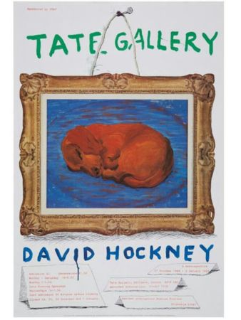 Cartel Hockney - Little Stanley Sleeping Tate Gallery