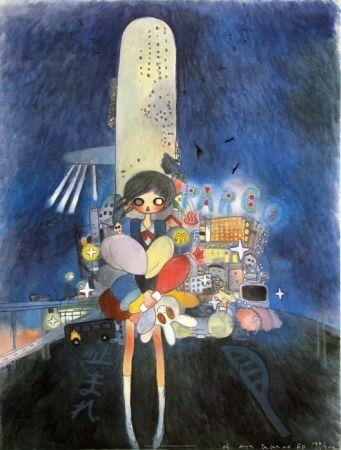 Litografía Takano - Little Stars of City Child