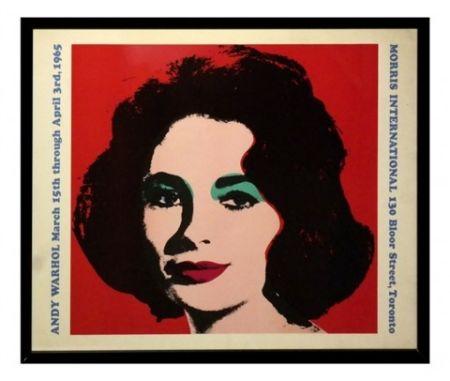 Litografía Warhol - Liz taylor