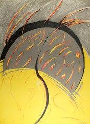 Litografía Miralles - Llamas / Flames