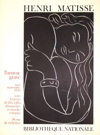 Litografía Matisse - L'Oeuvre Gravée  Bibliotheque Nationale