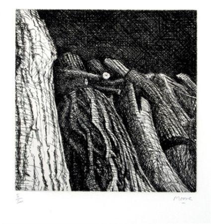 Grabado Moore - Log Pile II