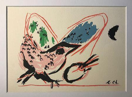 Litografía Chagall (After) - L'Oiseau