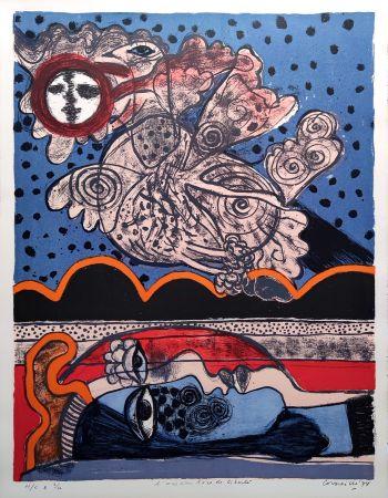 Litografía Corneille - L'oiseau îvre de liberté