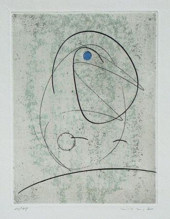 Aguafuerte Ernst - L'Oiseau bleu