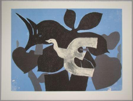 Litografía Braque - L'oiseau dans le paulownia