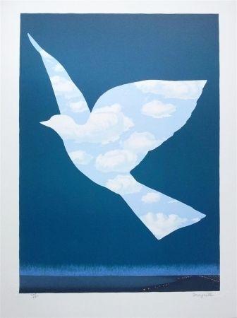 Litografía Magritte - L'Oiseau de ciel (Sky bird)