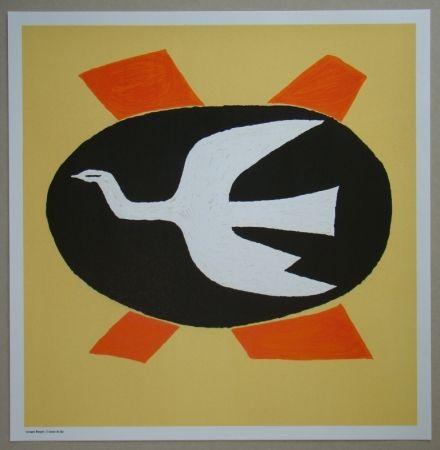 Litografía Braque - L'oiseau de feu, 1958