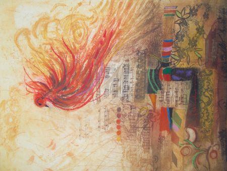 Grabado Engel - L'oiseau de feu II