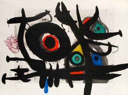 Grabado Miró - L'oiseau Destructeur