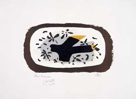 Litografía Braque - L'oiseau D'octobre