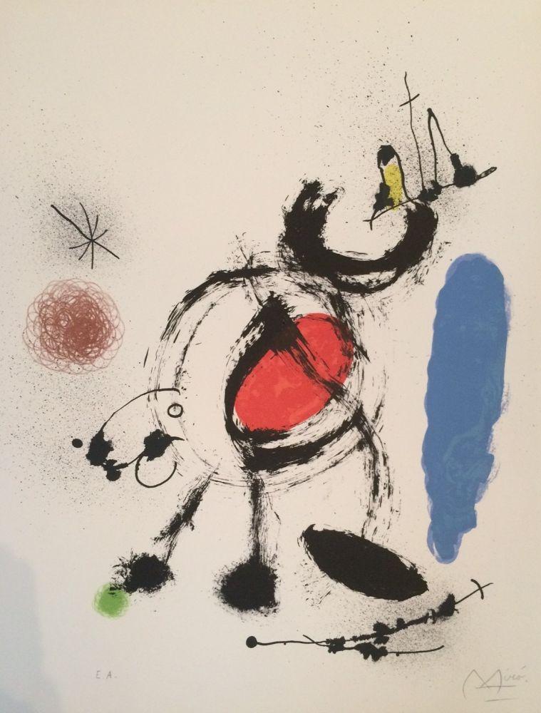 Litografía Miró - L'oiseau Migrateur