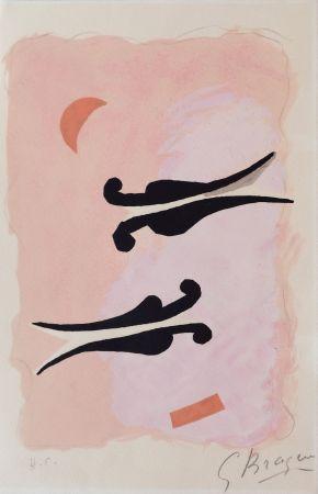 Litografía Braque - L'oiseaux - La Nuit - La Faim